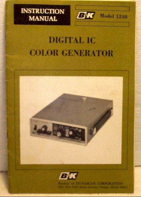 B&K Color Generator Manual