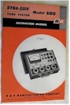 B&K Dyna-Quick 600 Tube Tester Instruction Manual
