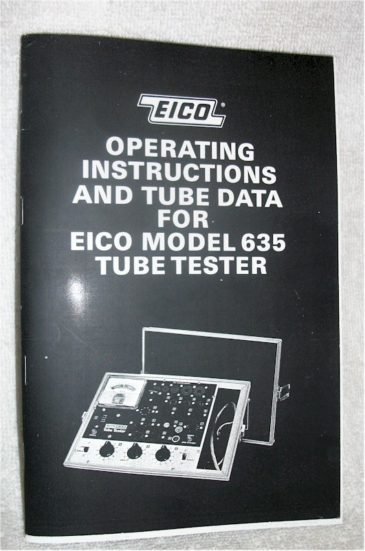 Eico 635 Tube Tester Manual