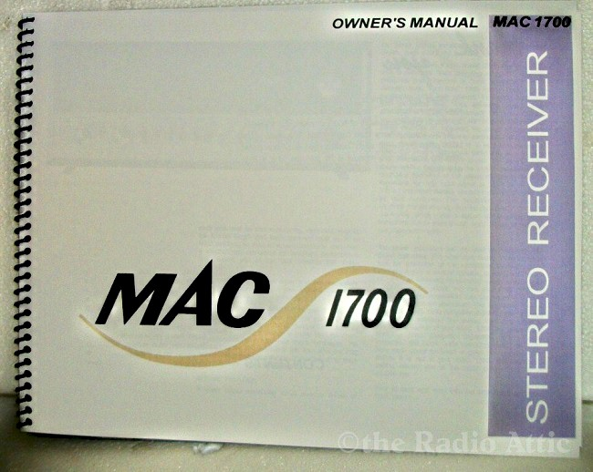 McIntosh MAC-1700 Owners Manual