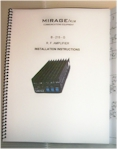 Mirage B-215-G Amplifier Manual