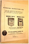 Precision Tube Checker Manual