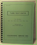 Precision 900 Series Tube Tester Data Manual