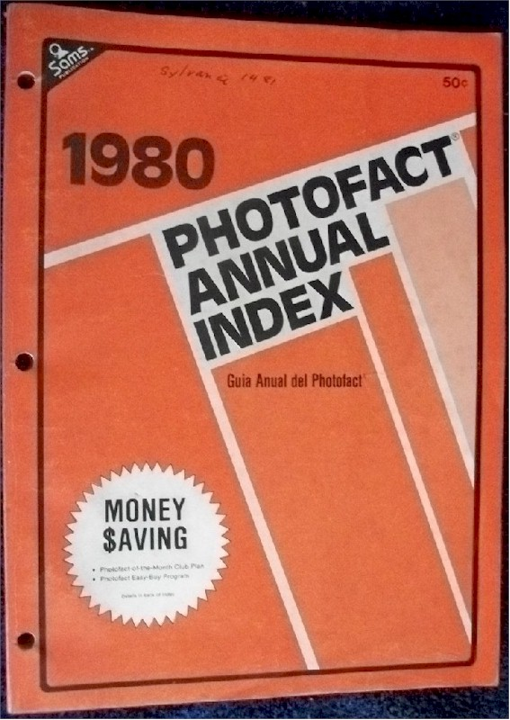 Sams Photofact Annual Index 1980