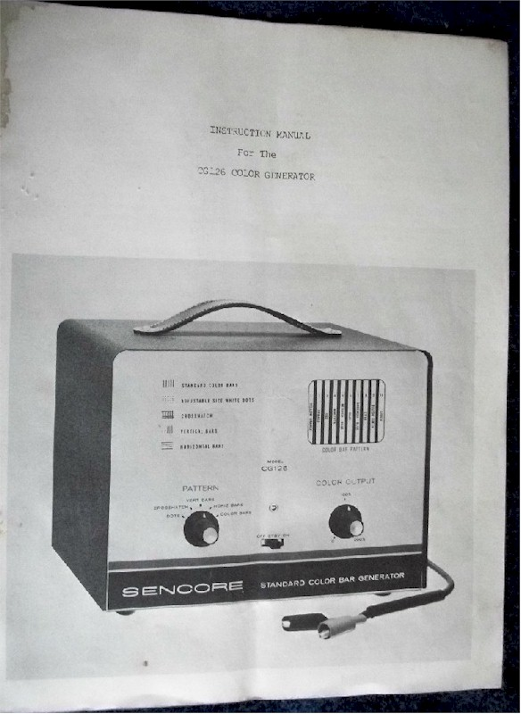 Sencore CG126 Color Generator Manual
