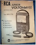 RCA Junior Voltohmyst WV-77A Manual