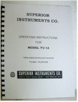 Superior TV-12 Tube Tester Manual