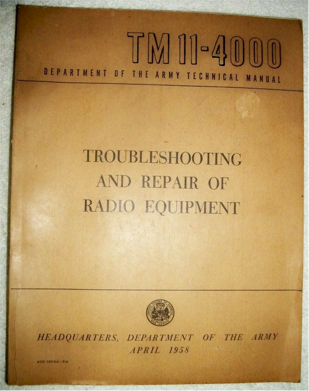 Troubleshooting and Repair of Radio Equipment, TM 11-4000