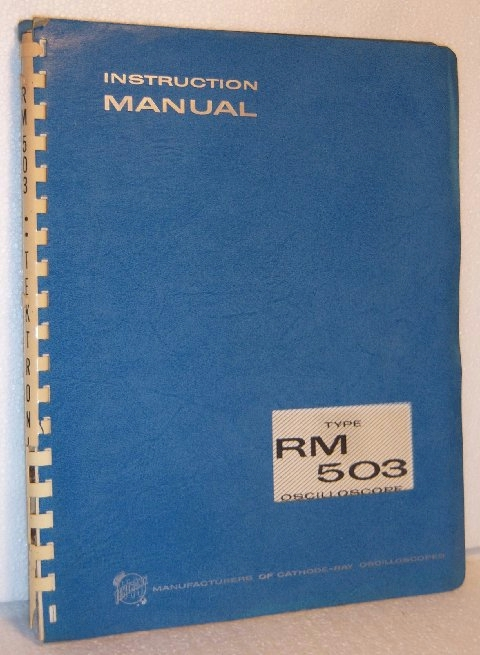 Manual: Tektronix RM503 Oscilloscope