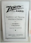 Zenith 7-S-363 (And Others) Operating Instructions