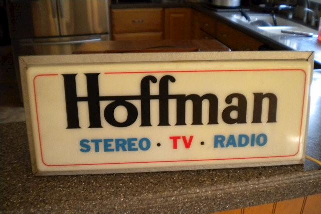 Hoffman Radio TV and Stereo Display Sign