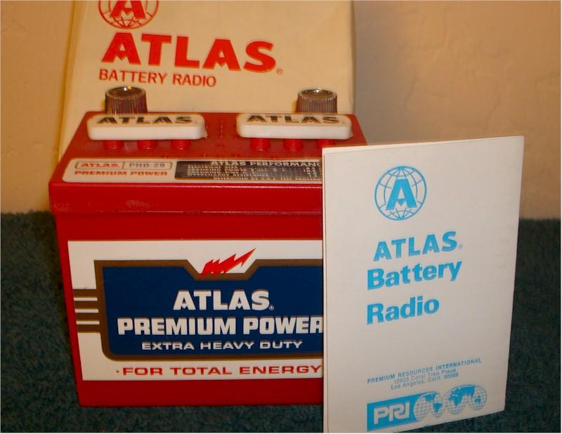 Atlas Car Battery Radio w/Box
