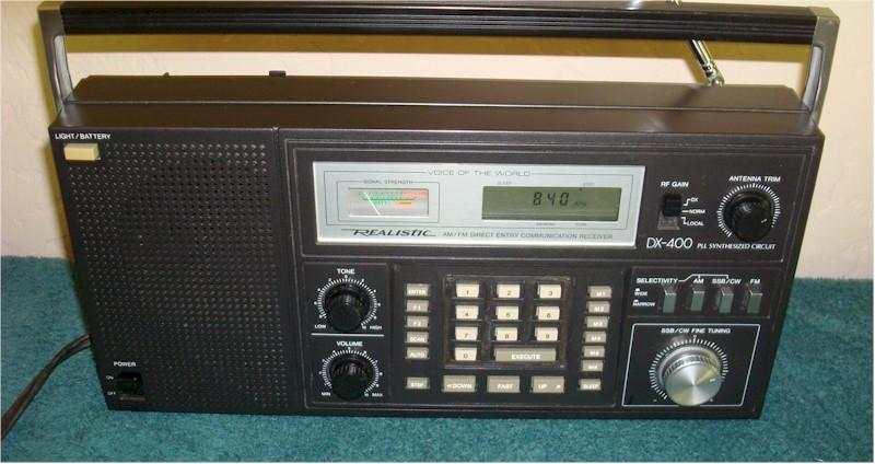 "Realistic ""DX-400"" 20-207 Multi-Band Portable"
