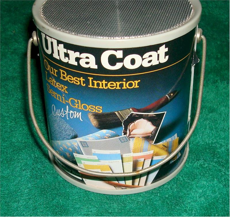 "Montgomery Ward ""Ultra Coat"" Paint Can Radio"