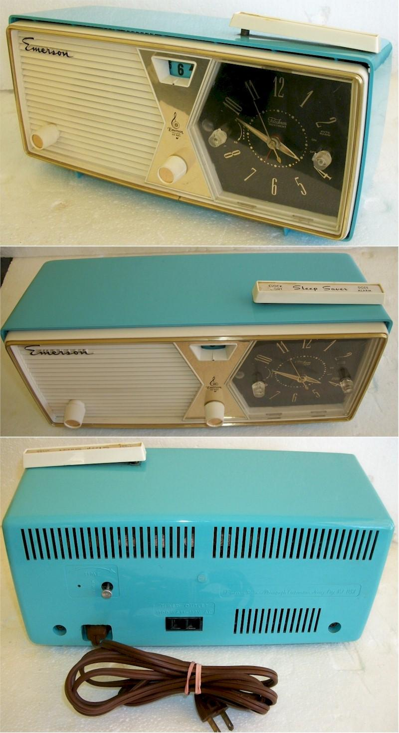 Emerson 833B Clock Radio (1958)