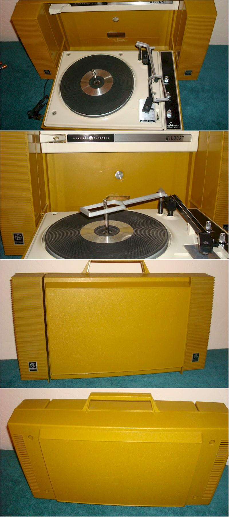 General Electric Wildcat Portable Phonograph