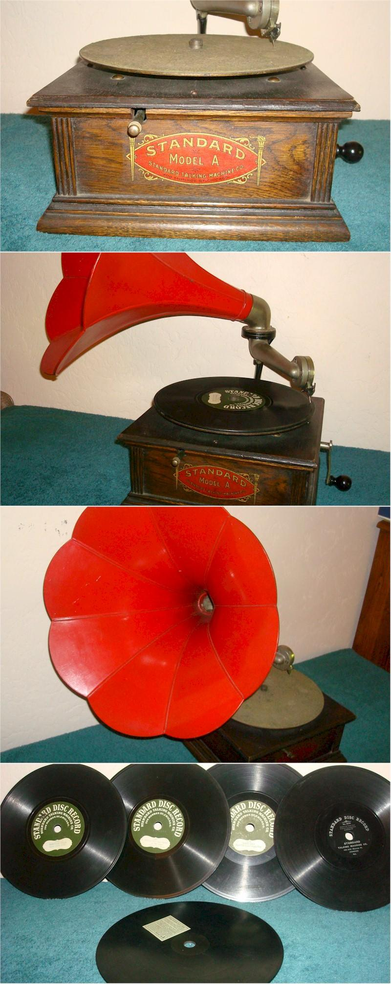 "Standard Model ""A"" Phonograph w/25 Records"