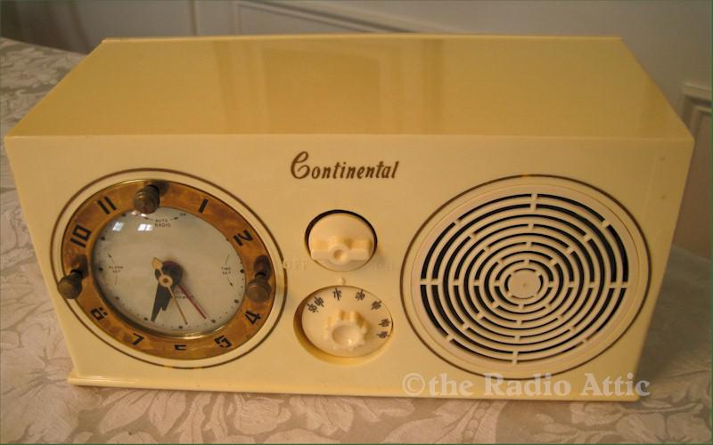 Continental C-454 Clock Radio (1950)