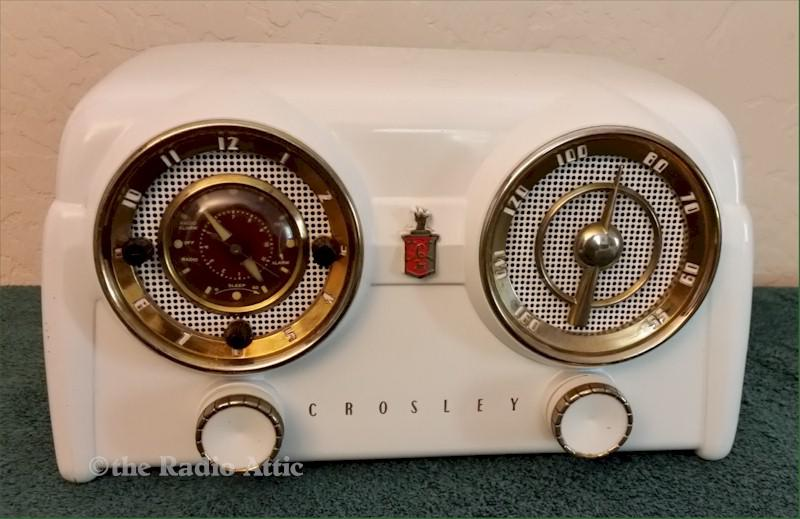 Crosley D-25WE Clock Radio (1953)