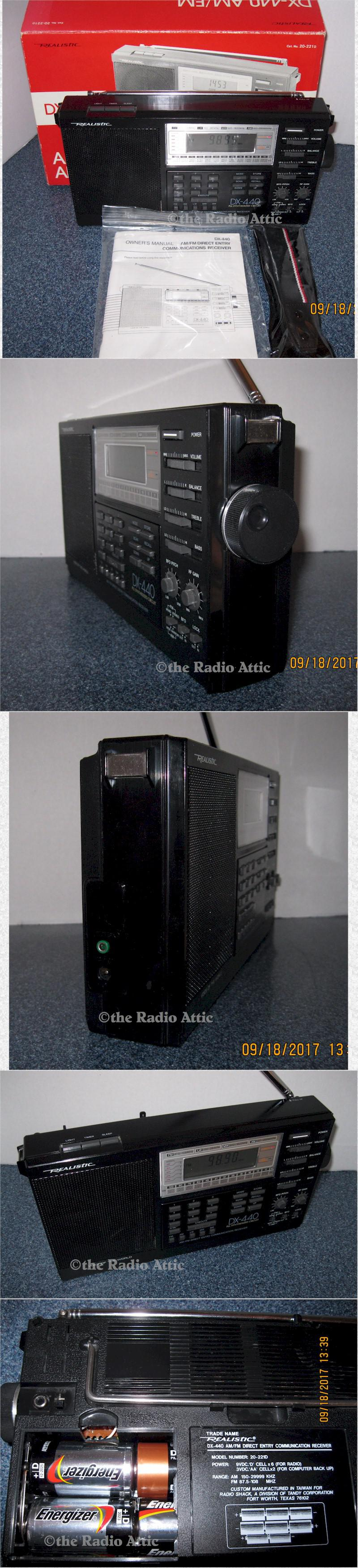 Realistic DX-440 AM/FM/SW Portable