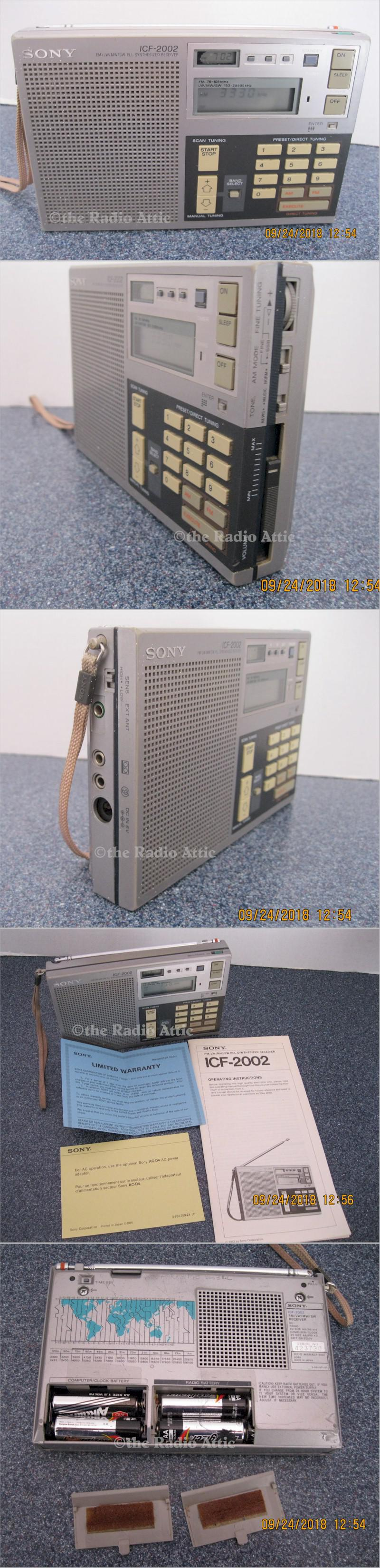 Sony ICF-2002 AM/FM/SW Portable