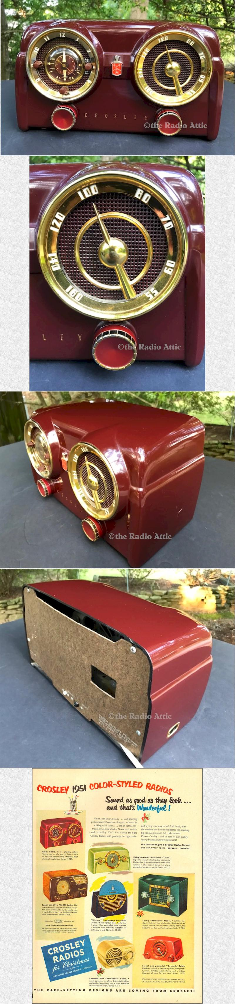 Crosley D-25 MN Clock Radio (1953)